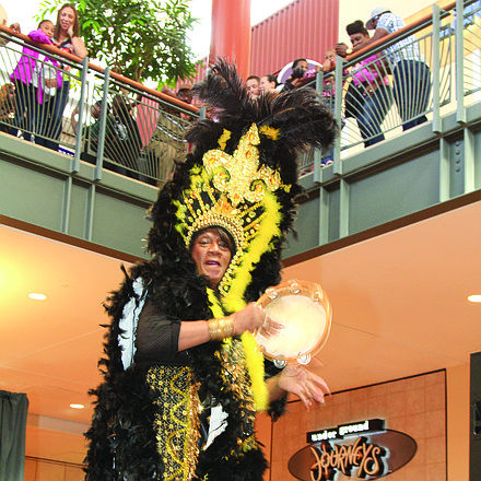 Entertainment at the expo included Queen Ora Dabney.