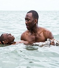 """Andre Holland (left) and Trevante Rhodes star in """"Moonlight."""""""