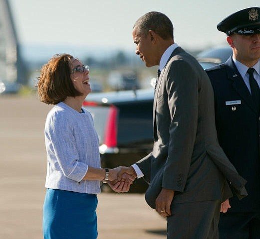 "Obama wants Oregon to continue having ""real leadership in Kate Brown."""