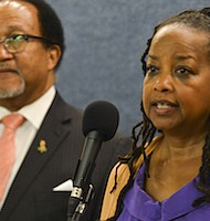 Denise Rolark Barnes said that Black women voters could make a monumental difference in the outcome of the 2016 election, just like they did in 2012. This photo was taken during a recent press conference at the National Press Club in Washington, D.C. (Freddie Allen/AMG/NNPA)
