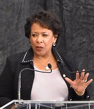 **FILE** Attorney General Loretta Lynch (Courtesy of the Justice Department via Twitter)