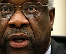 U.S. Supreme Court Justice Clarence Thomas testifies during a hearing before the Financial Services and General Government Subcommittee of the House Appropriations Committee April 15, 2010, on Capitol Hill in Washington, D.C.