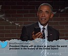 President Barack Obama reading mean tweets on Jimmy Kimmel Live Oct. 24, 2016