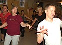 """Community residents practice the choreography to Michael Jackson's Halloween classic """"Thriller"""" as part of Thrill the World, a national annual project that brings people together to fundraise for organizations seeking to help the LBGTQ community."""