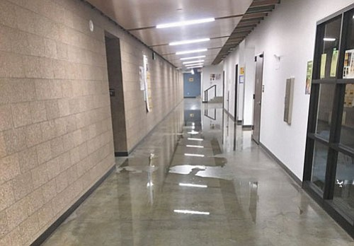 Roosevelt High Principal Filip Hristic says six classrooms and six bathrooms are deemed unusable until repairs are made due.