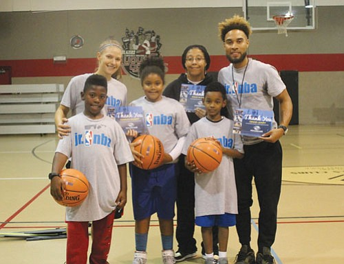 The Portland Trail Blazers celebrated National Junior NBA Week Thursday by hosting a basketball clinic at the Blazers Boys and ...