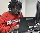 A Howard University student conducts an interview for the 2016 Howard University/NNPA National Black Voters Poll.