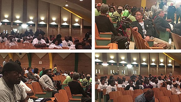 """The first of Mayor Jim Strickland's proposed """"community conversations"""" had its ups and downs as people tried to have their ..."""