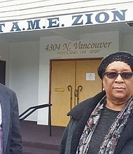 Portland businessman Mims Rouse Jr. and longtime Portland educator Carolyn Leonard oversee a pilot educational program at First AME Zion Church to help African American males and men reach their full potential.