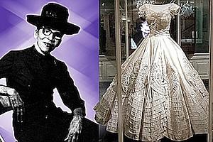 Jackie Kennedy's 1968 wedding gown, designed by iconic black fashion designer Ann Lowe (Courtesy of blackbrides.com)