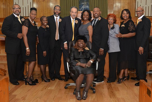 St. Mark Baptist Church Pastor J.C. Bachus and first lady Johnella Bachus were in good company last Sunday for the Pastor & Wife's Appreciation 50th Anniversary. (Photo: Tyrone P. Easley)