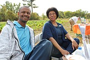 Frayser activists Charlie Caswell and Erma Simpson took in some sunshine and good vibes.