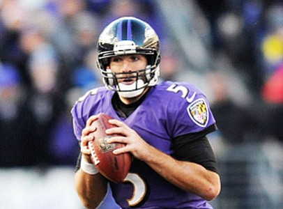 Baltimore Ravens quarterback Joe Flacco continues to work his way back into form after tearing multiple knee ligaments last season.