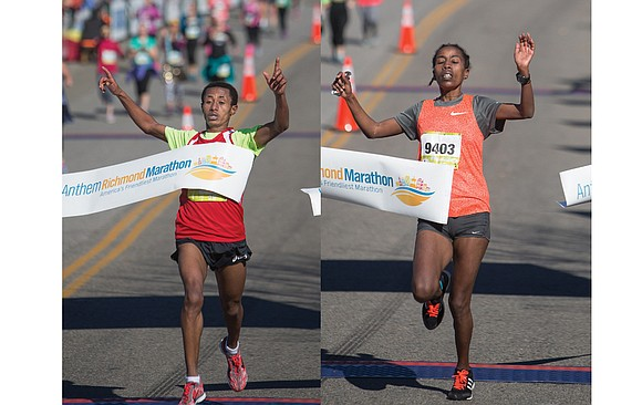 The 39th edition of the Richmond Marathon, like many of the races before it, was dominated by runners from East ...