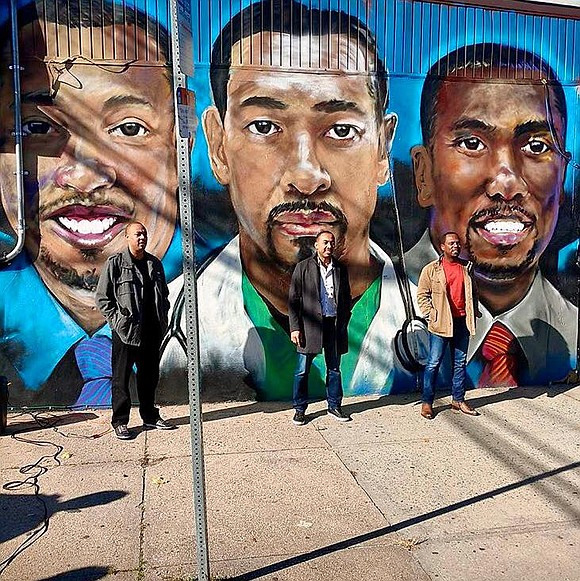 "The ""Three Doctors"" are known for their inspirational book ""The Pact."" Newark Mayor Ras Baraka and the Newark Public Art ..."