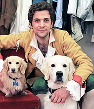 Opera star Luca Pisaroni with his favorite traveling companions: golden retriever, Lenny and minature Dachshund, Tristan. Pisaroni will perform in the BSO's production of Handel's Messiah at the Meyerhoff Symphony Hall in Baltimore on Friday, December 2 and Sunday, December 4, 2016.