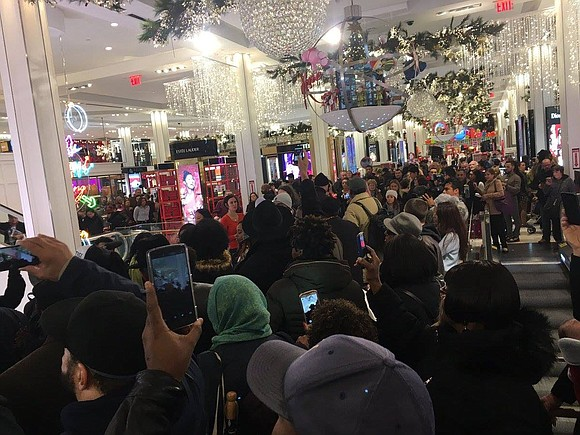 """The Justice Now! Coalition held its first action of the weekend, the """"Economic Shutdown 2.0"""" on Black Friday."""