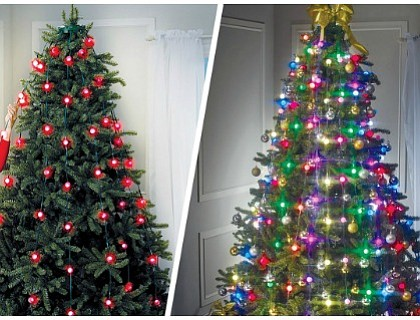 Let's admit it. Hanging Christmas tree lights is annoying.
