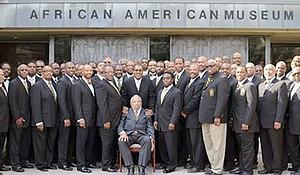 Members of the Alpha Phi Alpha Fraternity Inc. Alpha Sigma Lambda Chapter