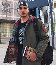 Young Abolitionist member Alex Ponte-Capellan was photographed holding 'Chain of Change' in this September, 2015 photograph.
