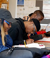 Students preparing for GED examinations in small class settings (Courtesy of Young Adult Learning Center)