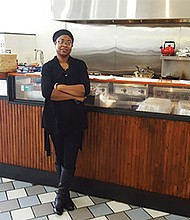 Next Step Soul Food Café owner Michelle White's new restaurant is a gathering place with Wi-Fi access in Codman Square.