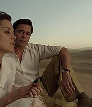 "Marion Cotillard and Brad Pitt in ""Allied"""