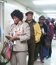 The lines were long throughout the day as NAACP members voted for local chapter president on Tuesday, November 22, 2016