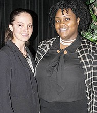 Kirenia Sera-Viguera (left) enrolled as a STEM Scholar at BCCC and has become an accomplished student of architecture at Morgan State University and Brittany Young (right) who struggled during her first year at the University of Maryland enrolled at BCCC and is now well on the road to success.