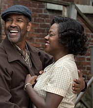 "Denzel Washington and Viola Davis in ""Fences"""