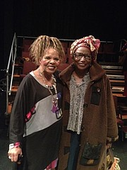 Ntozake Shange  and Michele Wallace