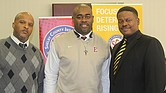 Three Shelby County Schools head football coaches have their teams in championship games: (l-r) Teli White of Trezevant, East's Marcus Wimberly and Rodney Saulsberry of Whitehaven. (Photo: Terry Davis)