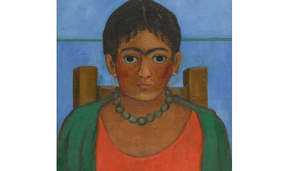 "Frida Kahlo's ""Niña Con Collar"" was found after the painting's owner, a former assistant to Kahlo, reached out to Sotheby's ..."