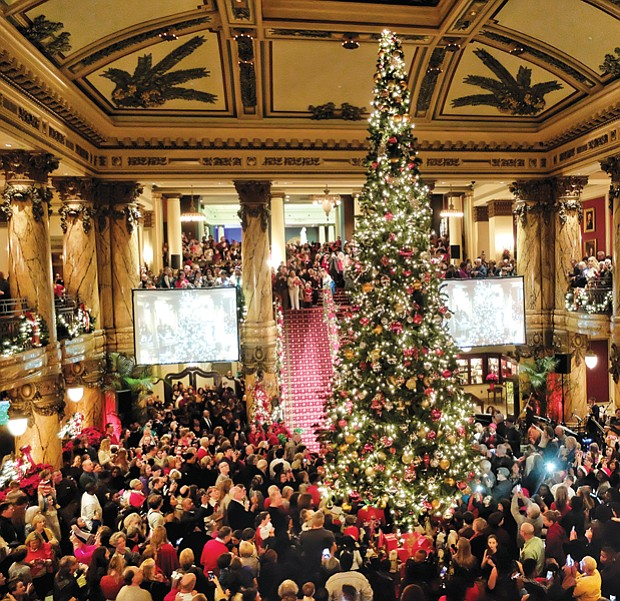 Jefferson starts joyous season // Hundreds of Richmonders, area residents and visitors kicked off the holiday season with the 30th Annual Tree Lighting on Monday at The Jefferson Hotel. The Downtown hotel was decked out with garlands, lights, poinsettias and a holiday scene crafted of gingerbread by Sara Ayyash, The Jefferson's executive pastry chef.