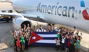 Miami celebrates first flights from U.S. to Cuba