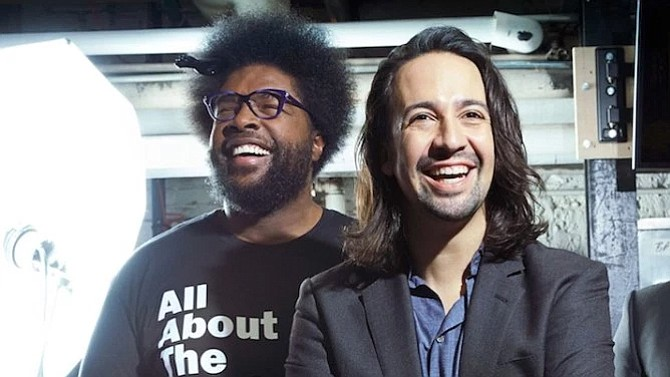 Questlove of the Roots and Lin-Manuel Miranda