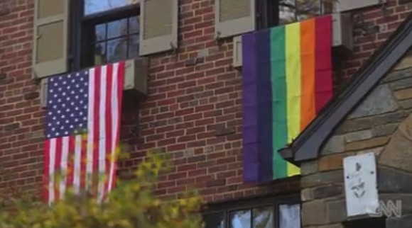 Some Washington residents who disagree with Mike Pence's positions on gay rights are making their values known to their new ...