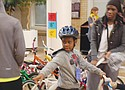 A first bicycle is a dream come true for a young boy at Sunday's annual Community Cycling Center Holiday Bike Drive at Legacy Emanuel Medical Center.
