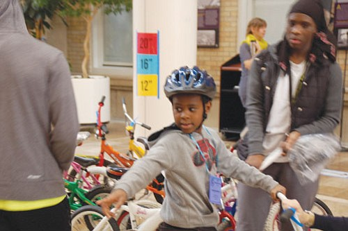 The 21st annual Community Cycling Center Holiday Bike Drive at Legacy Emanuel Medical Center gave 400 children their first bicycles ...