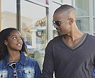"Nadja Alaya (left) and Shemar Moore star in ""The Bounce Back."""