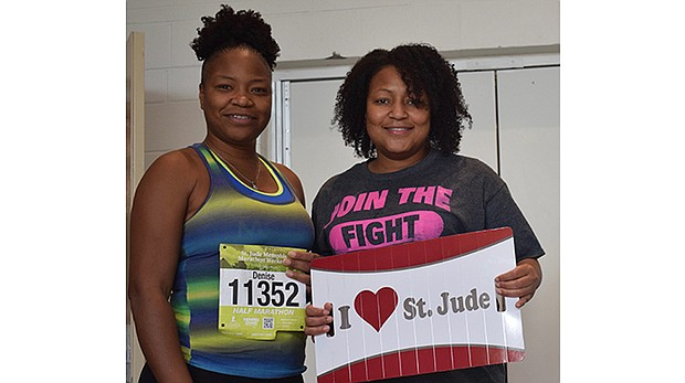 Michelle Walker (right) and her sister Denise have made the St. Jude Memphis Marathon a family tradition.