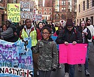 Students from BPS schools, charters and local colleges rallied on the Boston Common, at the State House and City Hall Monday.