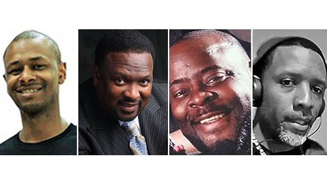(L-R) Pastor Charlie Caswell, Apostle Ricky Floyd, Carlos Coleman, Tyrone Spencer