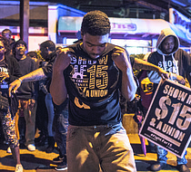 The Fight for $15 movement drew these supporters to the frontlines in Memphis on National Day of Action.