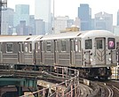 MTA 7 subway train in Queens