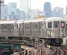MTA 7 subway train in Queens