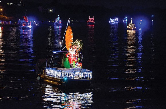 Boats lighted and decorated for the holidays will cruise down the James River this weekend at the 24th Annual James ...
