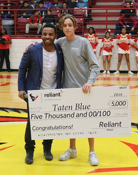 Stafford High senior Taten Blue has achieved a great deal in academics, athletics and community service. Those accomplishments were recognized ...