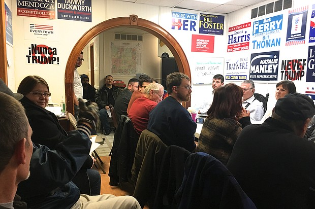 """The Will County Progressives hold one of their """"Friday Night Socials"""" in Joliet on December 9."""