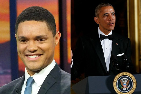 """The Daily Show"" host Trevor Noah will sit-down with President Barack Obama, and their ""in-depth"" discussion will air on Monday, ..."